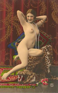 Naked Woman with Pearls