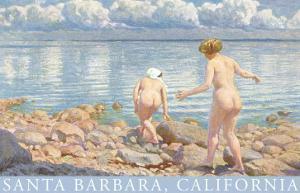 Naked Women on Rocky Shore, Santa Barbara, California