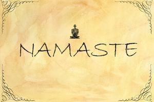 Namaste Plastic Sign