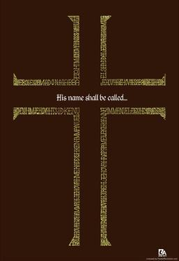 Names of Jesus Cross Text Poster