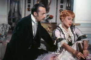 NANA, 1954 directed by CHRISTIAN-JAQUE Martine Carol and Charles Boyer (photo)