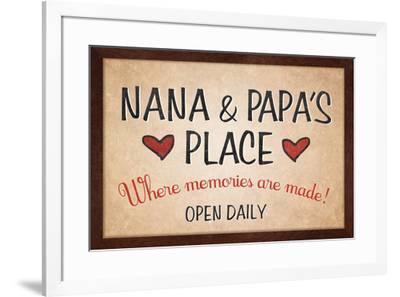 Nana and Papa's Place--Framed Art Print