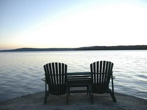 Waiting for the End of the Day, Chairs at Lake Mooselookmegontic, Maine by Nance Trueworthy