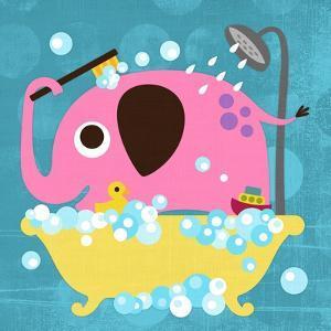 Elephant in Bathtub by Nancy Lee