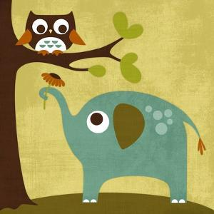Owl and Elephant by Nancy Lee