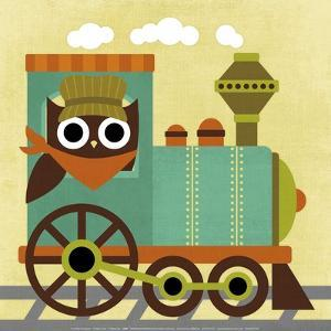 Owl Train Conductor by Nancy Lee
