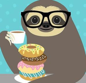Snacking Sloth by Nancy Lee