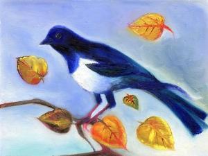 Autumn Magpie, 2012, by Nancy Moniz Charalambous