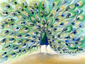Peacock in San Diego 2, 2013, by Nancy Moniz Charalambous