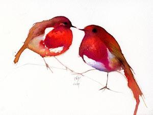 Two Little Ink Birds, 2014, by Nancy Moniz Charalambous