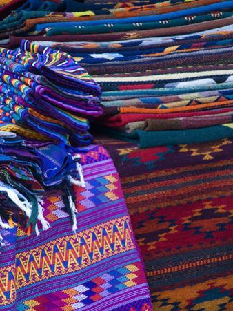 Rugs for Sale in Market, San Miguel De Allende, Mexico by Nancy Rotenberg