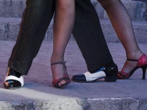 Tango Dancers' Feet, San Miguel De Allende, Mexico by Nancy Rotenberg