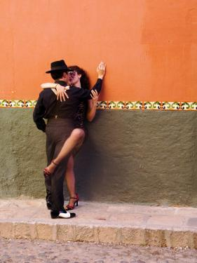 Tango Dancers in Streets of San Miguel De Allende, Mexico by Nancy Rotenberg
