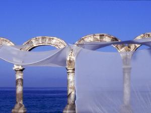 Arches and Sheets of Transparent Gauze Along the Malecon Boardwalk, Puerto Vallarta, Mexico by Nancy & Steve Ross