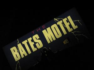 Bates Motel Sign, Coeur d'Alene, Idaho, USA by Nancy & Steve Ross