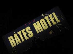 Bates Motel Sign, Coeur d'Alene, Idaho, USA by Nancy & Steve Ross