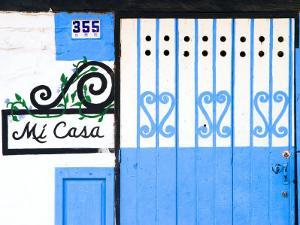 Detail of Colorful Wooden Door, Puerto Vallarta, Mexico by Nancy & Steve Ross