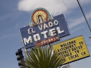 Detail of El Vado Motel Sign, Albuquerque, New Mexico, USA by Nancy & Steve Ross