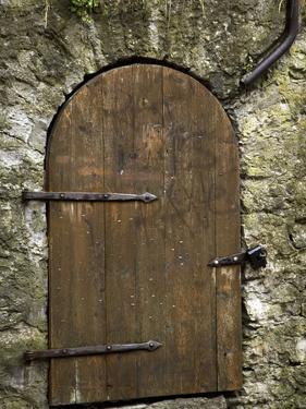 Detail of Old Wooden Door in Stone Wall, Tallinn, Estonia by Nancy & Steve Ross