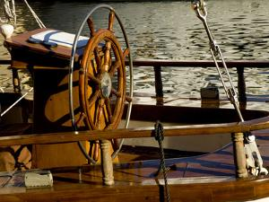 Detail of Sailboat's Helm, Helsinki, Finland by Nancy & Steve Ross