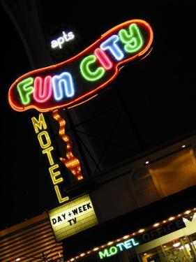 Fun City Motel Sign, Las Vegas, Nevada, USA by Nancy & Steve Ross
