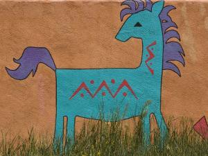 Horse Wall Mural, Santa Fe, New Mexico by Nancy & Steve Ross