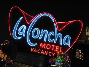 La Concha Motel Sign, Las Vegas, Nevada, USA by Nancy & Steve Ross