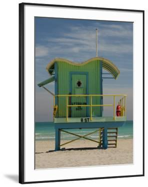 Lifeguard Station on 8th Street, South Beach, Miami, Florida, USA by Nancy & Steve Ross