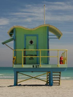 Lifeguard Station on 8th Street, South Beach, Miami, Florida, USA by Nancy & Steve Ross