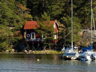 Vacation Home and Boats on Island in Helsinki harbor, Helsinki, Finland