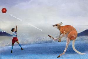 Kangaroo Kickball by Nancy Tillman