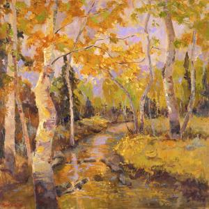 Four Seasons Aspens III by Nanette Oleson