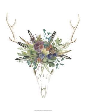 Deer Skull & Flowers II by Naomi McCavitt