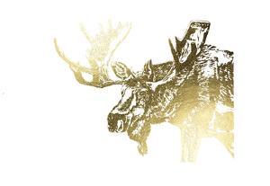 Gold Foil Moose by Naomi McCavitt