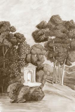 Sepia French Wall Paper I by Naomi McCavitt