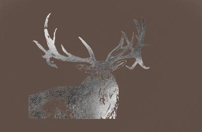 Silver Foil Elk on Bitter Chocolate by Naomi McCavitt