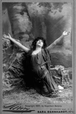 Actress Sarah Bernhardt Kneeling by Napoleon Barony