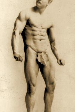 Eugen Sandow, in Classical Ancient Greco-Roman Pose, C.1893 by Napoleon Sarony
