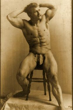 Eugen Sandow, in Classical Ancient Greco-Roman Pose, C.1893 by Napoleon Sarony