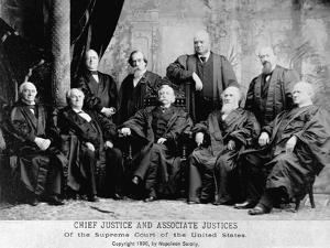 Portrait of the 1890 Supreme Court by Napoleon Sarony