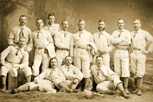 The Metropolitan Baseball Nine, 1882 by Napoleon Sarony