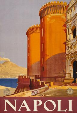 Napoli Italy Tourism Travel Vintage Ad Poster Print