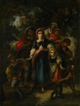 Children in a Wood by Narcisse Virgile Diaz de la Pena