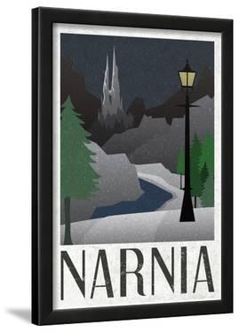 Narnia Retro Travel Poster
