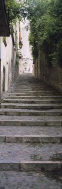 Narrow Staircase to a Street, Girona, Costa Brava, Catalonia, Spain