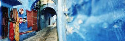 Narrow Streets of the Medina are All Painted Blue, Chefchaouen, Morocco