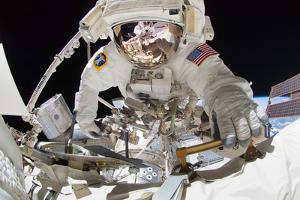 NASA Astronaut Greg Chamitoff at International Space Station