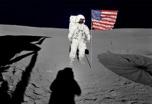 NASA Astronaut  Spacewalk Moon Photo Poster Print