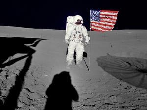 NASA Astronaut ?Spacewalk Moon Photo Poster Print