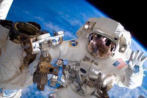 NASA Astronaut Spacewalk Space Earth Photo